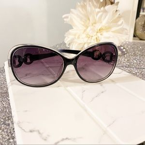 Black Purple Ombré Oversized Sunglasses New